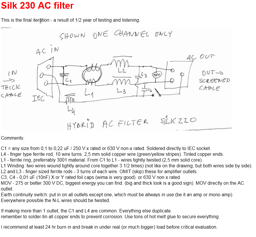 Hifi 230v Ac Mains Conditioner Project Part 1